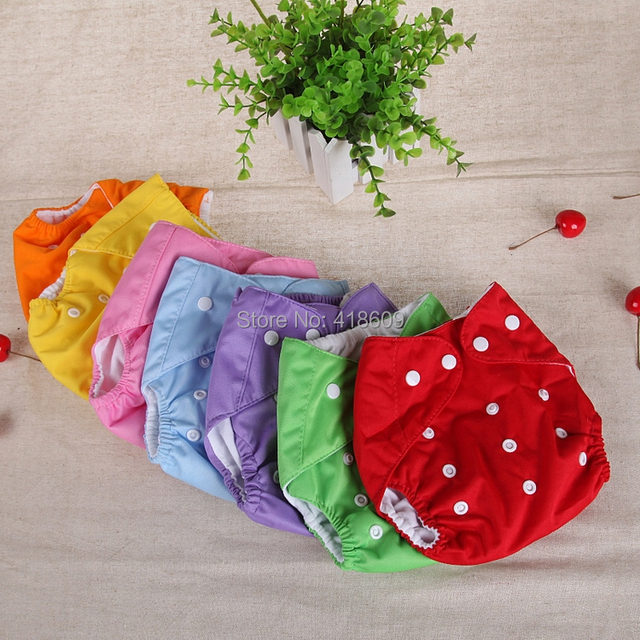5 Nappy + 20 Inserts TPU Waterproof Reusable Pure Colour Baby Cloth Diapers/Nappies Free Shipping wholesale