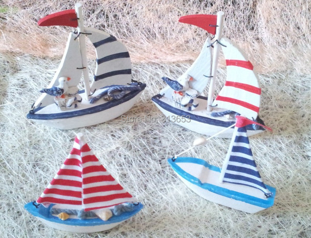 New Arrival Mini Wooden Ship Marine Furnishing Decorative Ornaments Decoration  Home Decoration Nautical Decor Sailing Ship