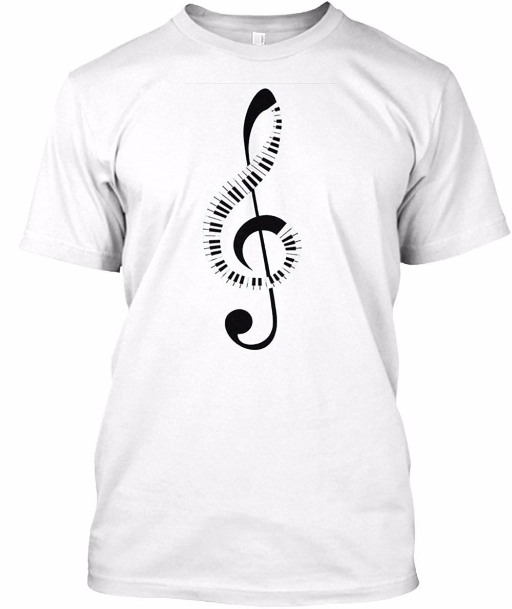 Design t shirt brand - New Design T Shirt Men Brand Clothing Fashion Creative Piano Keyboard Amp Treble Clef Music Note