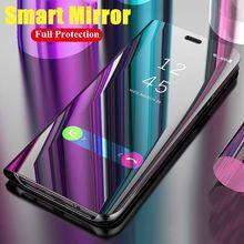 Zenfone Max Pro M2 ZB631KL Tampa Flip Luxo Espelho Inteligente Telefone de Volta Shell Para ASUS Pro Max M2 ZB630KL Coque funda