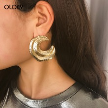 OLOEY Punk Earrings For Women New Fashion Semi-Circular Irregular Bohomian Party Alloy Female Jewelry Gifts