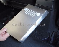 Stainless Steel Interior Accessories Armrest Box Rear Panel Cover Trim For Jeep Compass Patriot 2011 2012
