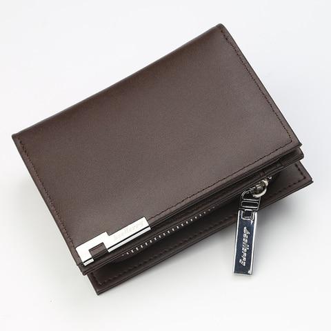 Men Wallets PU Leather Card Holder Purse Short Coin Pocket Male Clutch Money Bag Zipper Wallet Luxury Leather Wallet Carteira Islamabad
