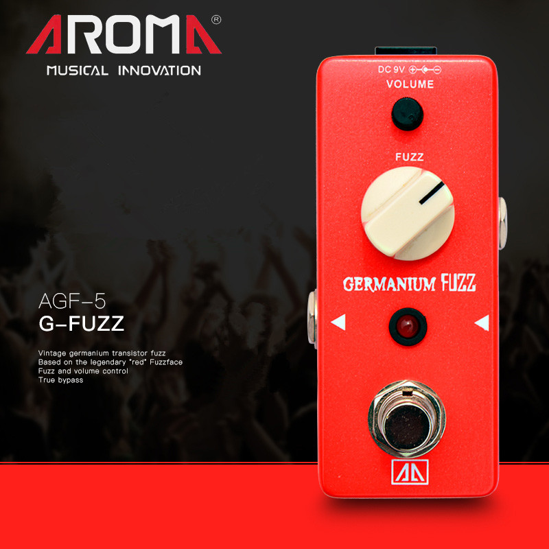 AROMA AGF-5 Fazli Effect Electric Guitar Classic FUZZ Single Effect Device Pedal True Bypass Guitar Parts & Accessories agf 3 vintage germanium fuzz guita guitar effect pedal aroma mini analogue pedals with true bypass guitar parts aluminium alloy
