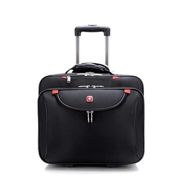 1ce8794f60fc Men Business Trolley Travel Bag 18 Inch Boarding Box Computer Rolling  Luggage Women Suitcase Trunk