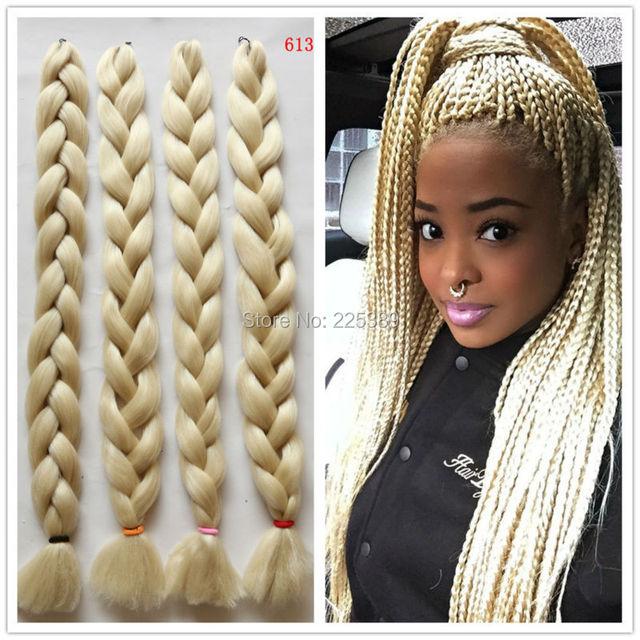 5packs 41inch X Pression Blonde Color Kanekalon Jumbo Braiding Hair