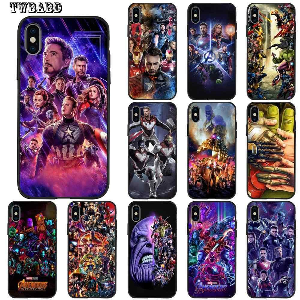 Роскошные Marvel Мстители танос Железный человек Тор чехол для телефона