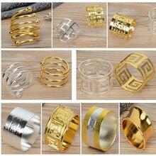 Кольца для салфеток из металлического сплава золотистого и серебристого цвета для украшения стола кольца для салфеток оптом металлические блестящие цвета