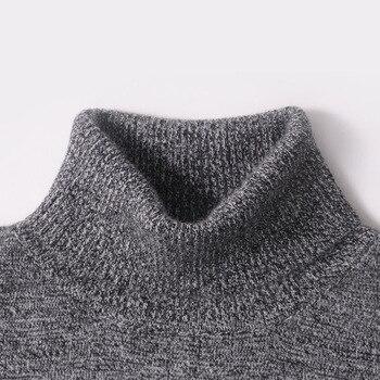 Mężczyźni Sweter Zima 100% Kaszmiru i wełny Dzianiny Swetry Ciepłe Swetry Z Golfem 2016 Nowa Gorąca Sprzedaż Sweter Standardowe Ubrania