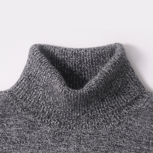 Men Sweater Winter 100% Pure Cashmere Knitted Sweaters Warm Turtleneck Pullovers 2016 New Hot Sale Sweater Standard Clothes