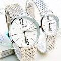 2016 novo top de luxo da marca Mulheres Relógios de Pulso de aço inoxidável completa homens relógio original da moda casal de quartzo-relógio montre femme