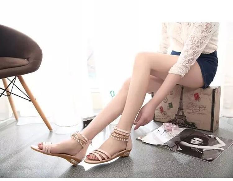 women sandals 2016 fashion Bohemia gladiator sandals women beading sandalias mujer wedges shoes for women 2016 new spring DT141 (8)