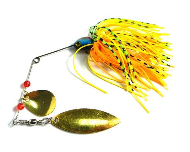 HENGJIA 1PC 17G Spinnerbait Black Large Mouth Bass Fish Metal bait Sequin Beard pike fishing tackle rubber jig Soft Fishing lure 2