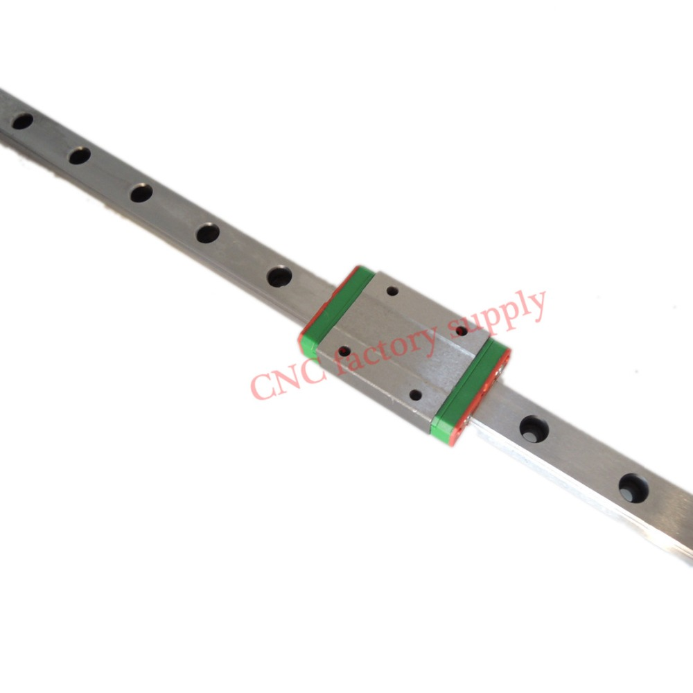 3D print parts cnc Kossel Mini MGN12 12mm miniature linear rail slide 1 Set=3pcs 12mm L-600mm rail+3pcs MGN12H carriage