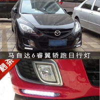 EOsuns Led DRL Daytime Running Light For Mazda 6 Atenza With Yellow Turn Signal Top Quality