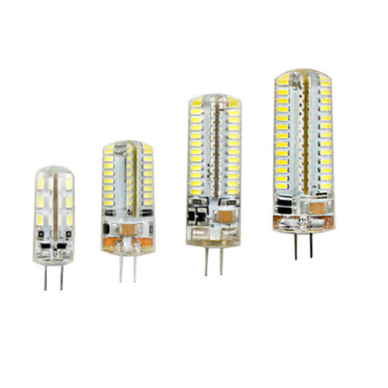 <font><b>LED</b></font> Silicone Mini Corn Bulb AC 220V <font><b>G4</b></font> 3W 6W 7W <font><b>9W</b></font> 10W 12W White light Dimming Chandelier Replace Halogen Lamps image
