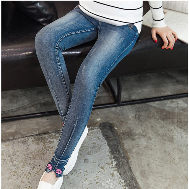 Maternity Jeans For Pregnancy Clothes Special Offer Super Elastic Waist Denim Pants For Pregnant Women Skinny Jeans Trousers