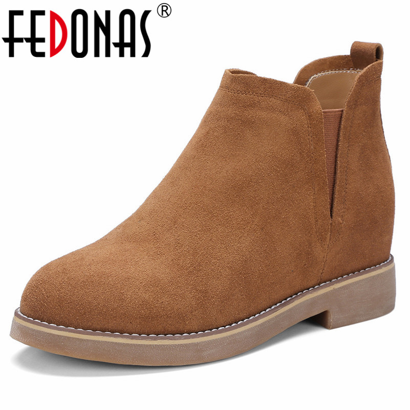 FEDONAS Basic Boots High Heels Warm Autumn Winter Martin Shoes WOman Sexy Short Motorcycle Boots Classic Office Pumps spring and autumn female women short boots shoes martin boots motorcycle boots footwear high heel pumps sexy platform shoes