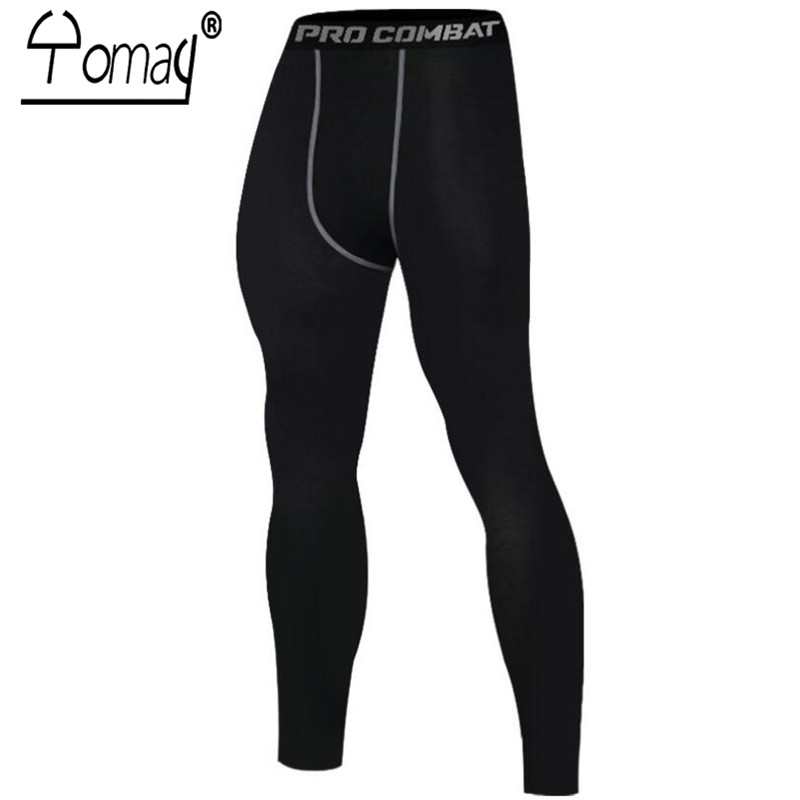 Yomay Mens Compression Pants Bodybuilding Tights Fitness Yoga Running Tights Male Sports Tight Trousers Pantis anti fatiga