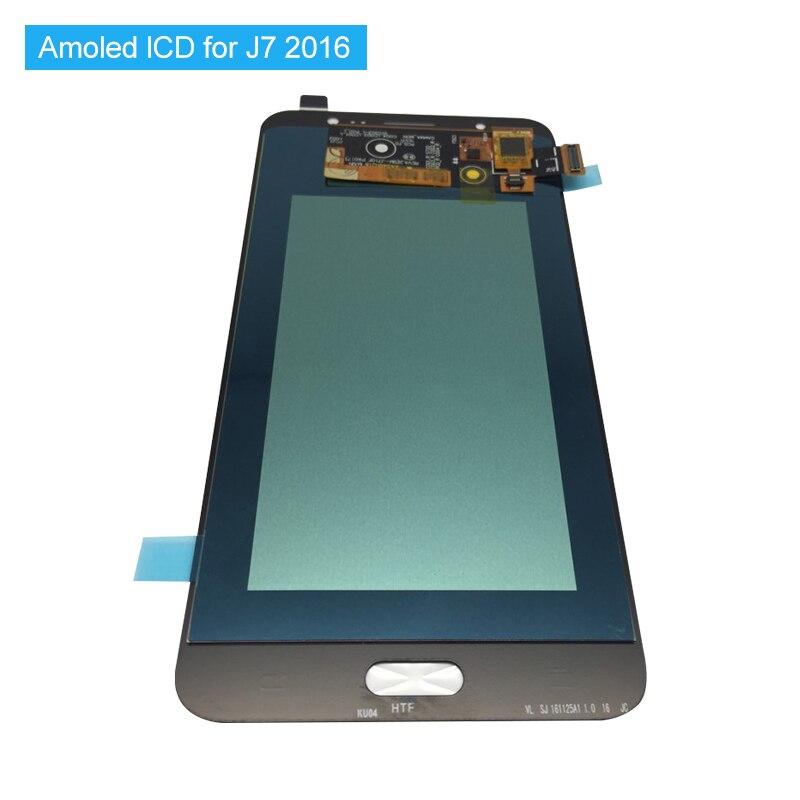 Super Amoled LCD Für Samsung Galaxy J7 2016 J710 J710F J710M J710G LCD AMOLED Display Touch Digitizer + Werkzeuge