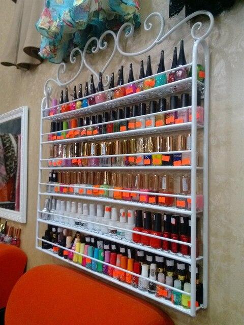 Wrought Iron Nail Polish Display Shelf Nail Salons Cosmetics Display Shelf  Hanging Nail Polish