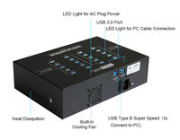 Multi Charger USB Hub 20 port charging station for Pad / tablets/laptop with 2.1A output