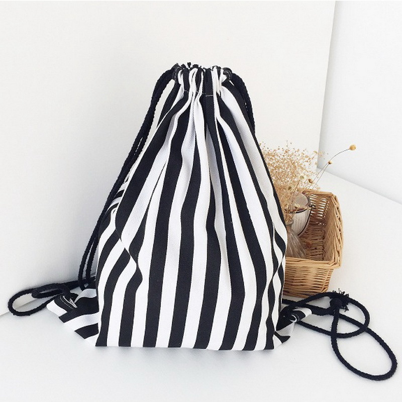 Aliexpress.com : Buy Striped Printing Women's Backpack Canvas ...
