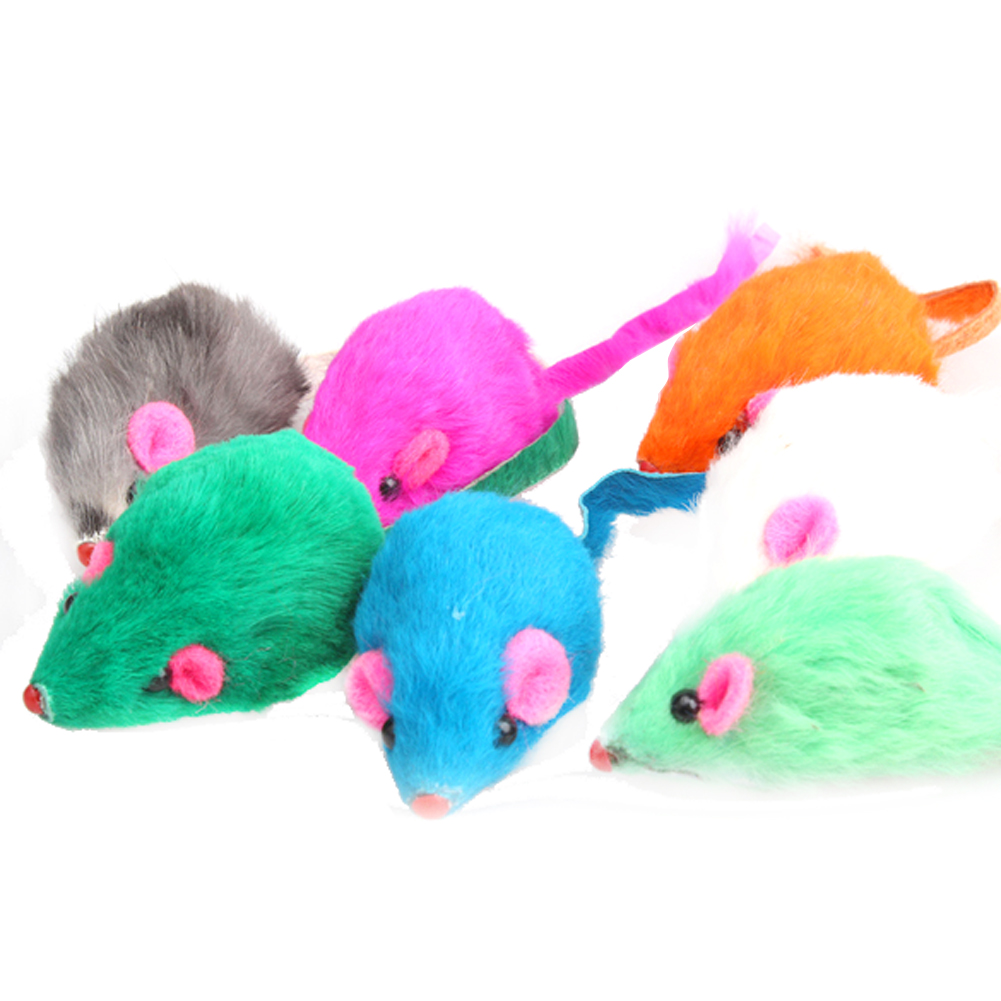 Fashion New Lovely Bright Coloured Little Funny Cute Mouse Toys For ...