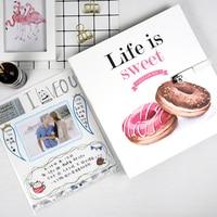 Baby Photo Album Scrapbook Para Viajes Troquel Christmas Black Paper Albun De Fotos Large Family Photo Albums Scrap Book ABY011