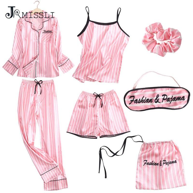 75ba4a9ec94 JRMISSLI Spring Autumn Satin Silk Women Pajama Set Long Sleep Blouse Pant  Top Quality Lady Nightwear Female Sexy Sleepwear