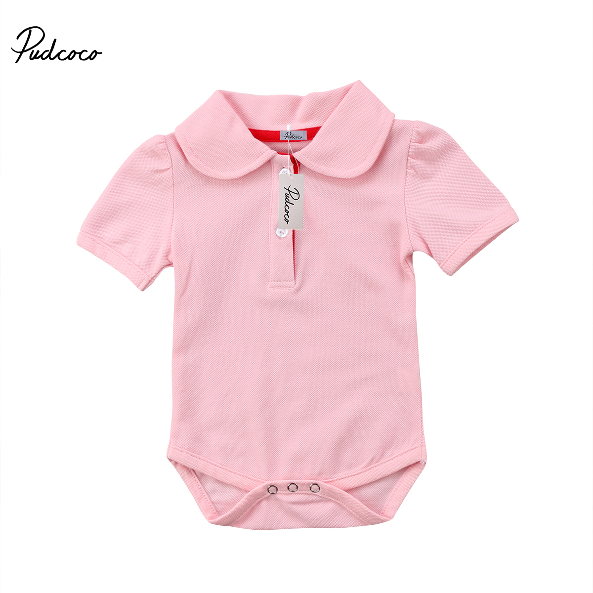 Newborn Baby Boys Girls Polo Shirt Short Sleeve Summer Infant New