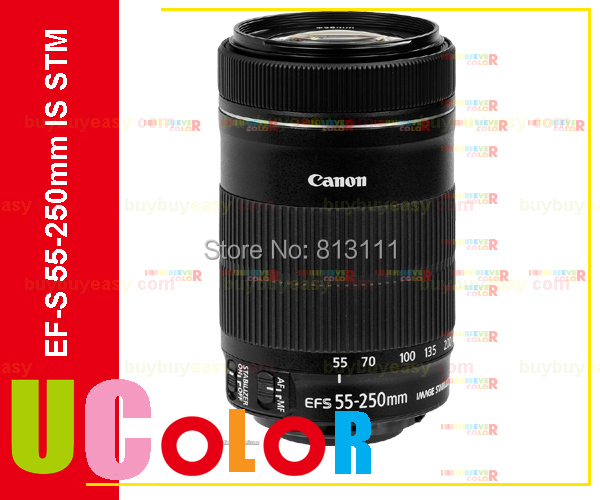Canon 55-250 STM Obiettivo Canon EF-S 55-250mm f/4-5.6 IS STM Lenti per 650D 700D 750D 760D 1200D 1300D T3i T6 T5i T5 60D 70D 80D