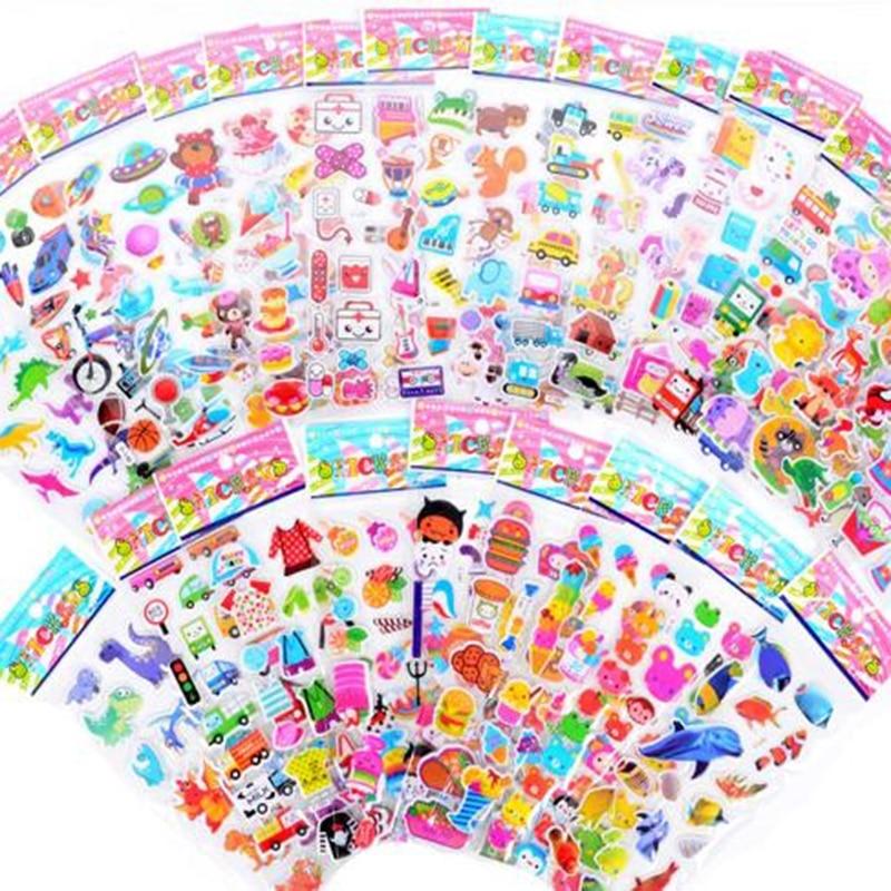 50 Sheets Children Stickers For More Than 700 PCs,  21.5*6.8 Cm  Cartoon Pattern Teacher Reward Wall Desk Stickers Scrapbook