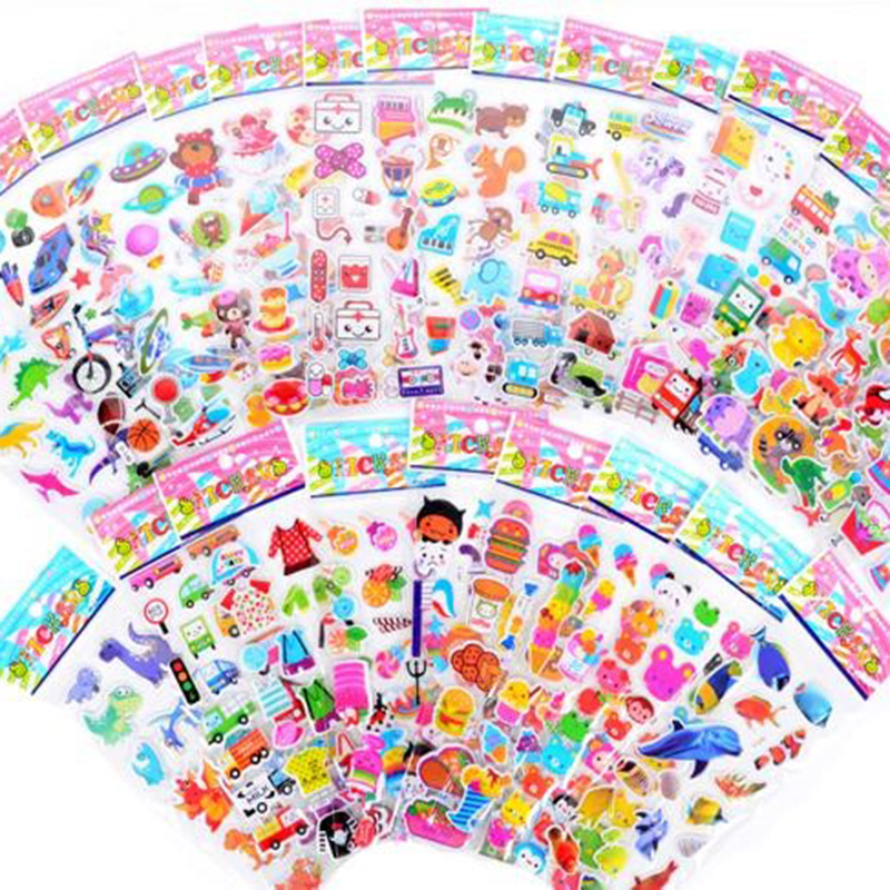 50 sheets children stickers for more than 700 PCs,  21.5*6.8 cm  Cartoon Pattern Teacher Reward Wall Desk Stickers Scrapbook