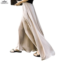 tnlnzhyn 2019 New Spring Summer Women Wide leg Pants Casual High waist Skirts Pants Loose Casual long Women trousers Y1005