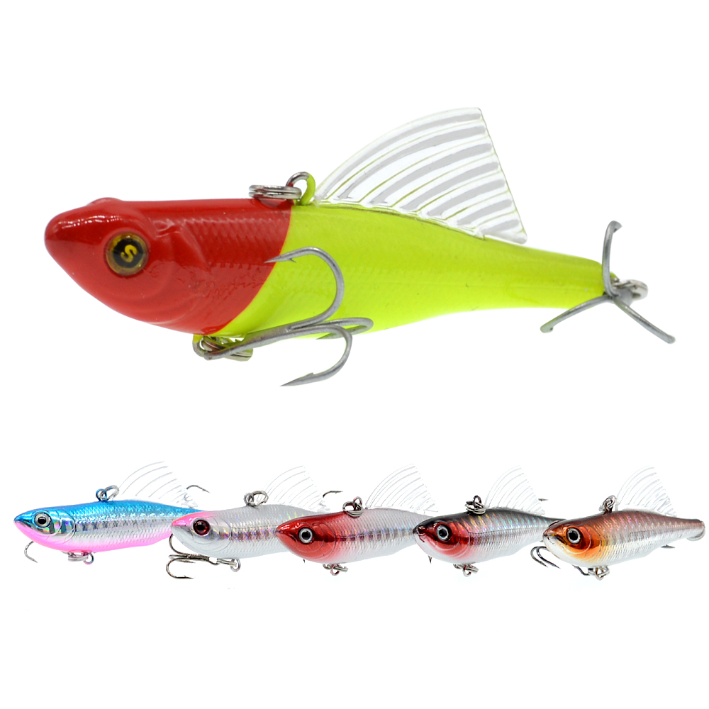 WLDSLURE 14.5g/65mm Sinking Vibration Fishing Lure Hard Plastic Artificial VIB Winter Ice Jigging Pike Bait Tackle Isca Peche-in Fishing Lures from Sports & Entertainment