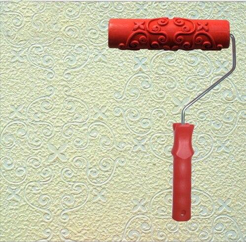 Kieselalgen schlamm gemusterten walze für wanddekoration wohnkultur 7 zoll gummiwalze 087
