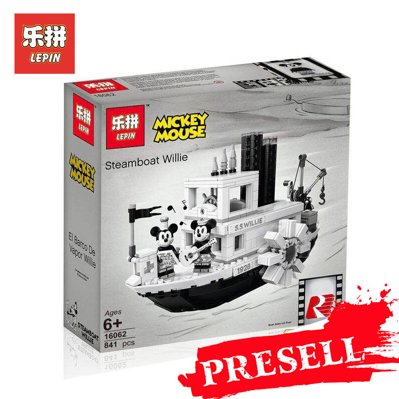 Lepin 16062 Compatible Legoing Set 21317 idées Steamboat Willie blocs de construction briques modèle noël cadeaux jouets éducatifs