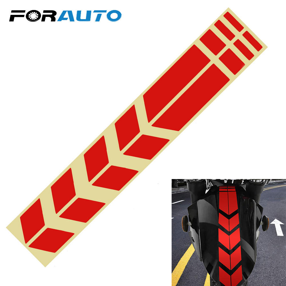 FORAUTO Moto Stickers And Decals On Bike Bicycle Fender Motorcycle Accessories Motorcycle Reflective Sticker Decoration