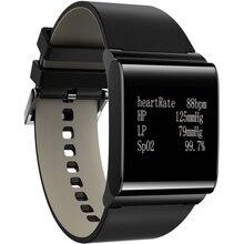 X9-plus correa de cuero pulsera inteligente monitor de presión arterial medidor de ritmo cardíaco reloj de pulsera smartband podemeter para iphone oppo
