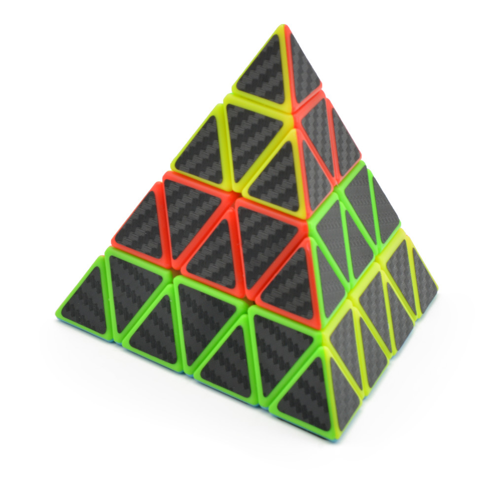 Lefun Master Pyramid Magic Cube Carbon Fiber Sticker Cubo Magico Twist Puzzle Educational Toy Puzzle Education Toys For Children