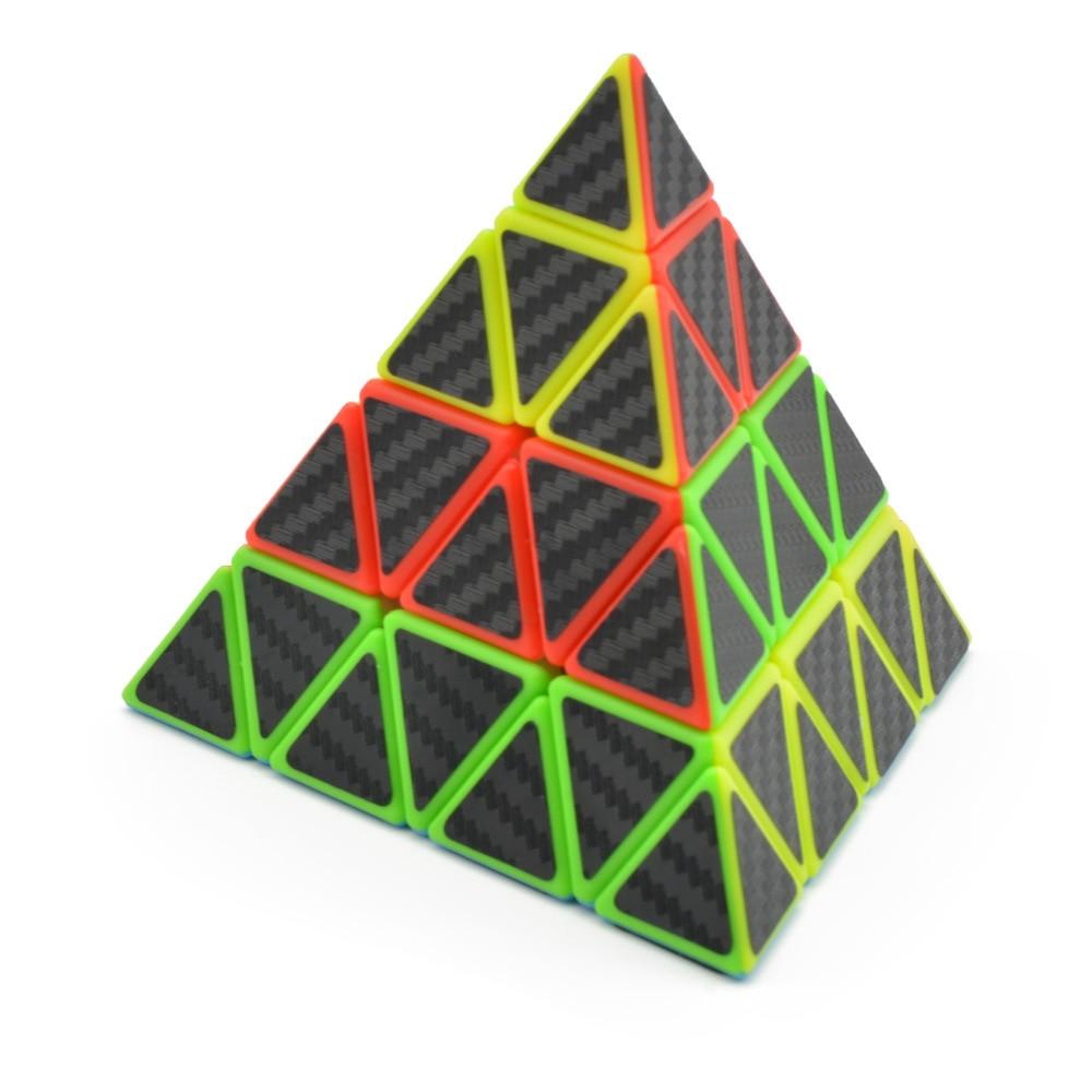 Lefun Master Pyramid Magic Cube Carbon Fiber Sticker Cubo Magico Twist Puzzle Educational Toy Puzzle Education Toys For Children