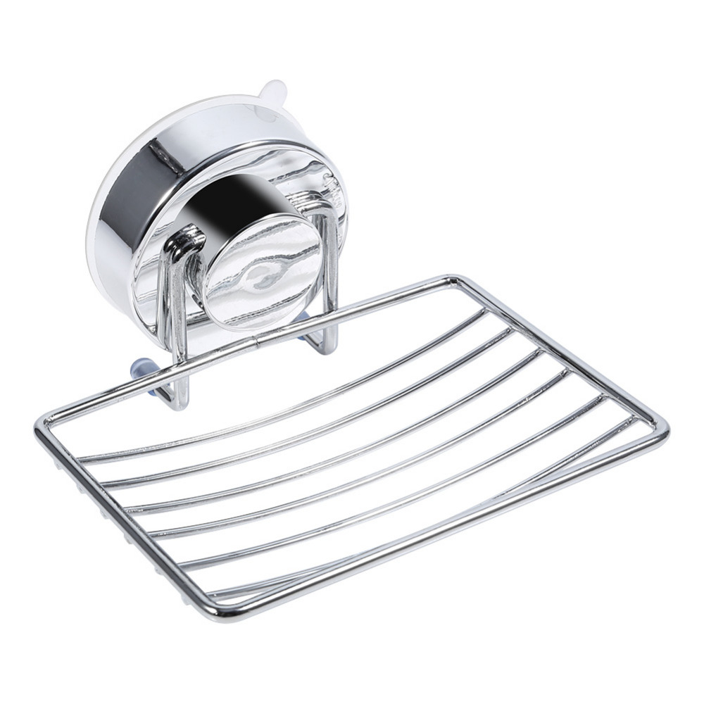 Stainless Steel Vacuum Suction Cup Hook Holder Soap Dishes Super Suction Hanging Rack Holder Bathroom Kitchen