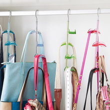 Wardrobe bag storage rack bags rack kitchen cabinet multi-layer hanging bag rotating 4-layer bossing hangers