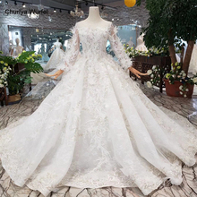 HTL318B Special Wedding Dresses with feather see-through back handmade button bridal dress for girl vestido de noiva princesa button through calico dress