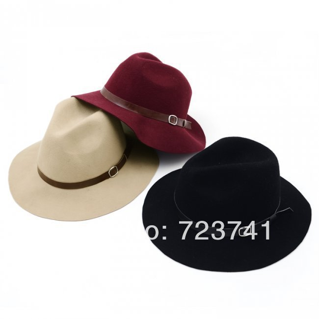retail New Brand Fashion 2014 Spring Vintage 100% woolen hats   caps  fedoras a hat felt hat Sun cap for women Free shipping 0c54103625ac
