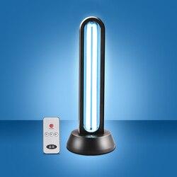 Lámpara de cuarzo de desinfección de OZONO UV de 38W, lámpara portátil de control remoto de ácaros, esterilización de ozono, lámpara ultravioleta para el dormitorio del hogar