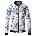2016 Nuevos Hombres de Moda Casual Chaqueta Chaqueta de Diseñador de la Marca Impresa Flor T0118