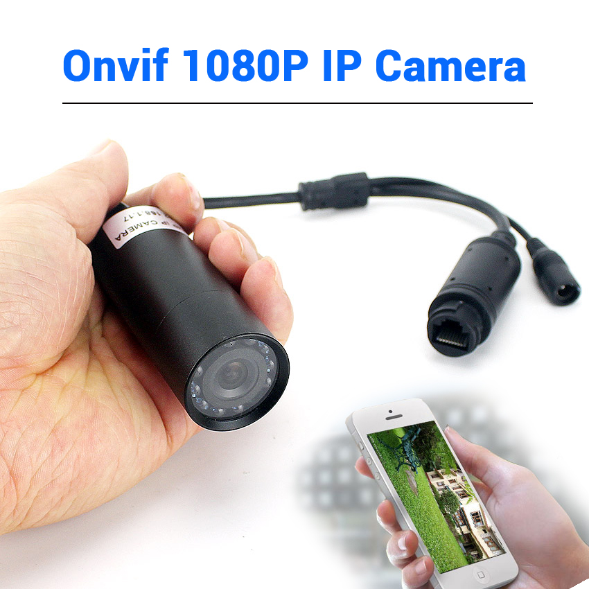 48V POE Or DC 12V Small IP Camera Onvif Wired 1080P Mini IP Network Camera 940nm IR Night Vision 2MP IP Mini Camera