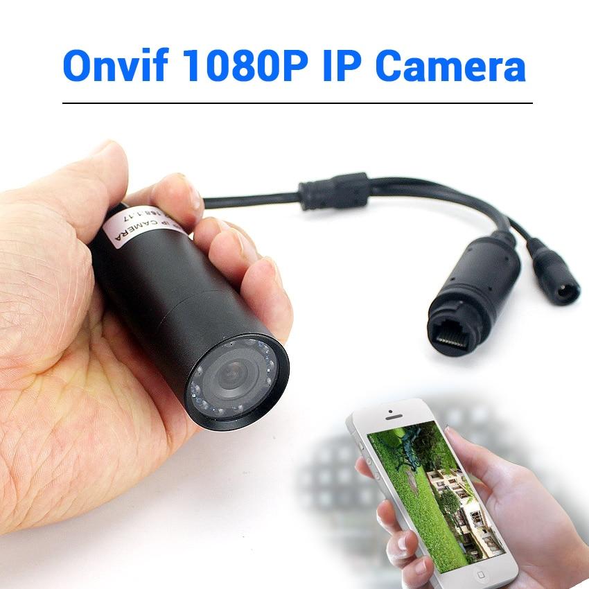 48V POE Or DC 12V Small IP Camera Onvif Wired 1080P Mini IP Network Camera 940nm IR Night Vision 2MP IP Mini Camera